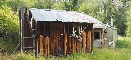 The old hut is now locked and used as storage for Molesworth musterers'. | Lake McRae Historic Hut, Lake McRae