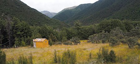 Jervois is off the beaten track these days. Visited by hut baggers and occasional hunters. | Jervois Hut, St James Conservation Area