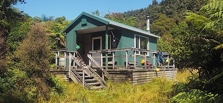Stafford Hut is worth the rather strenuous walk in. | Stafford Hut, South Westland