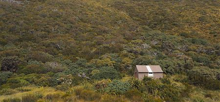 When the weather is foggy the hut might be hard to find. Will be painted Rescue Orange. | Townsend Hut, Arthurs Pass National Park