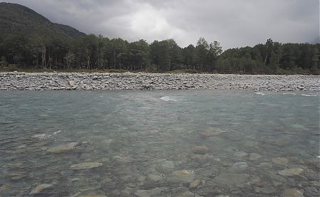 The last river crossing, the Otira River was probably the most difficult due to the depth and current.
