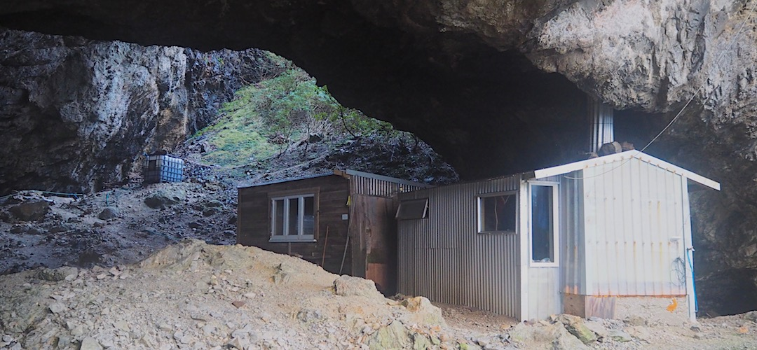 Westies is in a cave. That means it's damp. | Westies Hut, Fiordland National Park