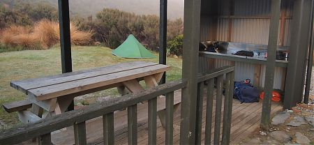 Perry Saddle Hut camping area, Heaphy Track, Kahurangi National Park