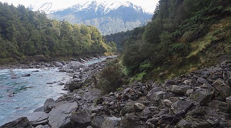 Some rock hopping as you make your way up the valley is required.    Copland Track, South Westland