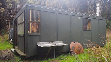Yup. It's a box.   Murray Hunters Hut, Stewart Island/Rakiura