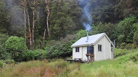 Set in a small clearing just off the track. Plenty of kaka and kakariki around. | Maori Saddle Hut, Haast Paringa Cattle Trail