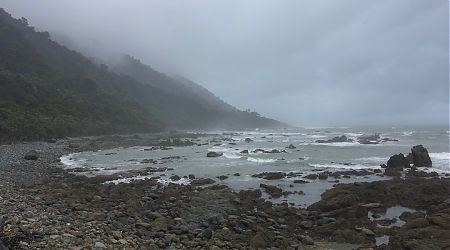 I'll be leaving tomorrow. Maybe the weather will pick up.   Gorge River, South Westland