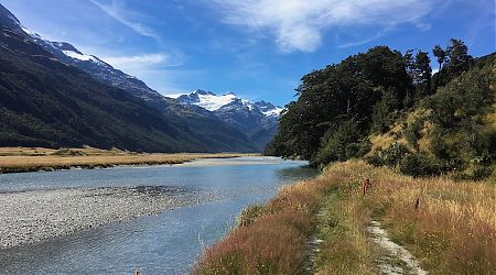 Start of the Rees Track at the Rees River. |  Rees-Dart Track, Mt Aspiring National Park
