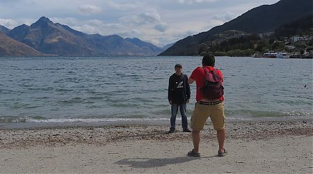 Down being a tourist at Lake Wakatipu, Queenstown