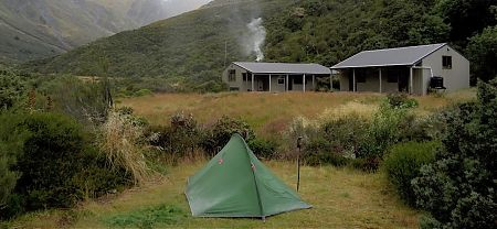 Close to the hut. | Campsite, Shelter Rock Hut, Rees-Dart Track, Mt Aspiring National Park