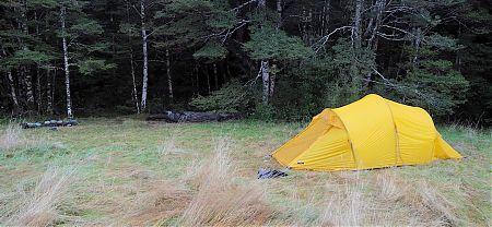 Nina River Valley campsite | Lake Sumner Forest Park