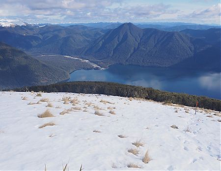 Lake Rotoroa and D'Urville River from Mt Cedric, Day 4 | Lake Angelus, July 2019
