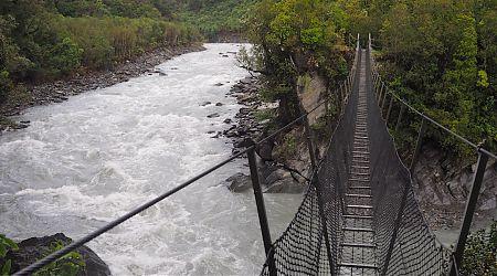 Cesspool Swingbridge, Arahura River   Arahura/Styx blog, December 2019