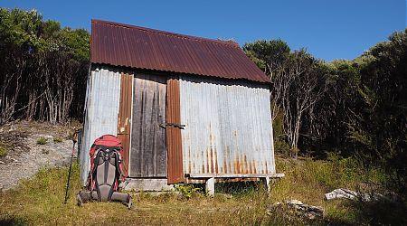 Tin Hut Shelter exterior   Kahurangi National Park