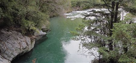 The Sabine River near the lower bridge, Nelson Lakes National Park