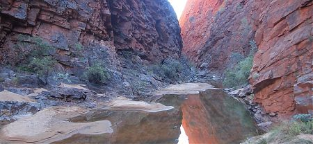 Hugh Gap, on Larapinta Trail, Central Australia