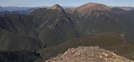 Mt Rintoul from Slaty Peak, Alpine Route, Mt Richmond Forest Park