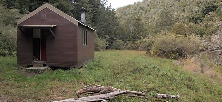 Captains Creek Hut, Pelorus River, Mt Richmond Forest Park