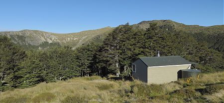 Slaty Hut, Alpine Route, Mt Richmond Forest Park