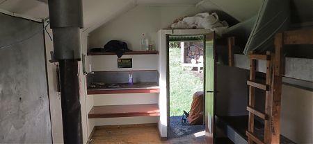 Hacket Hut, Mt Richmond Forest Park interior