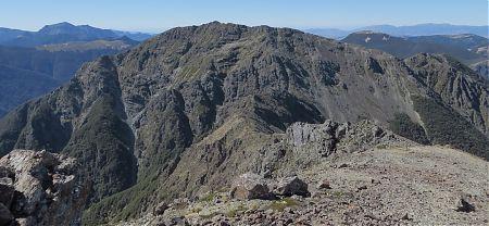 Little Mt Rintoul from Mt Rintoul, Alpine Route, Mt Richmond Forest Park