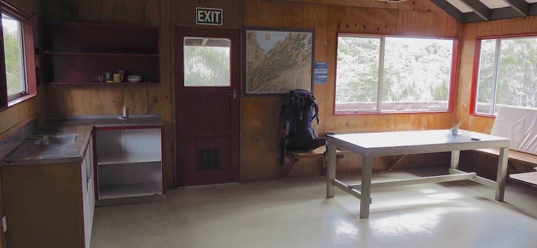 the kitchen, Rocks Hut, Mt Richmond Forest Park