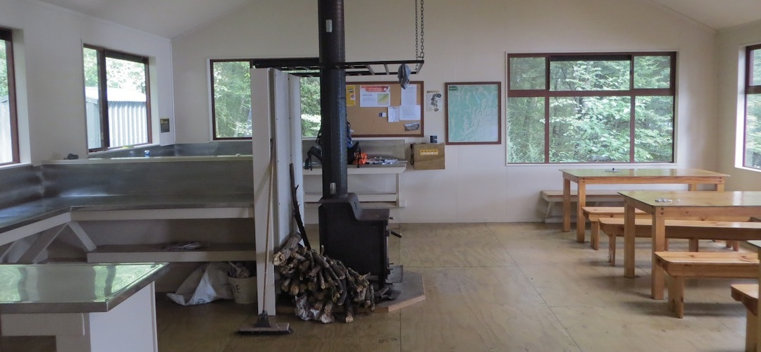 Sabine hut interior, Lake Rotoroa, Nelson Lakes National Park